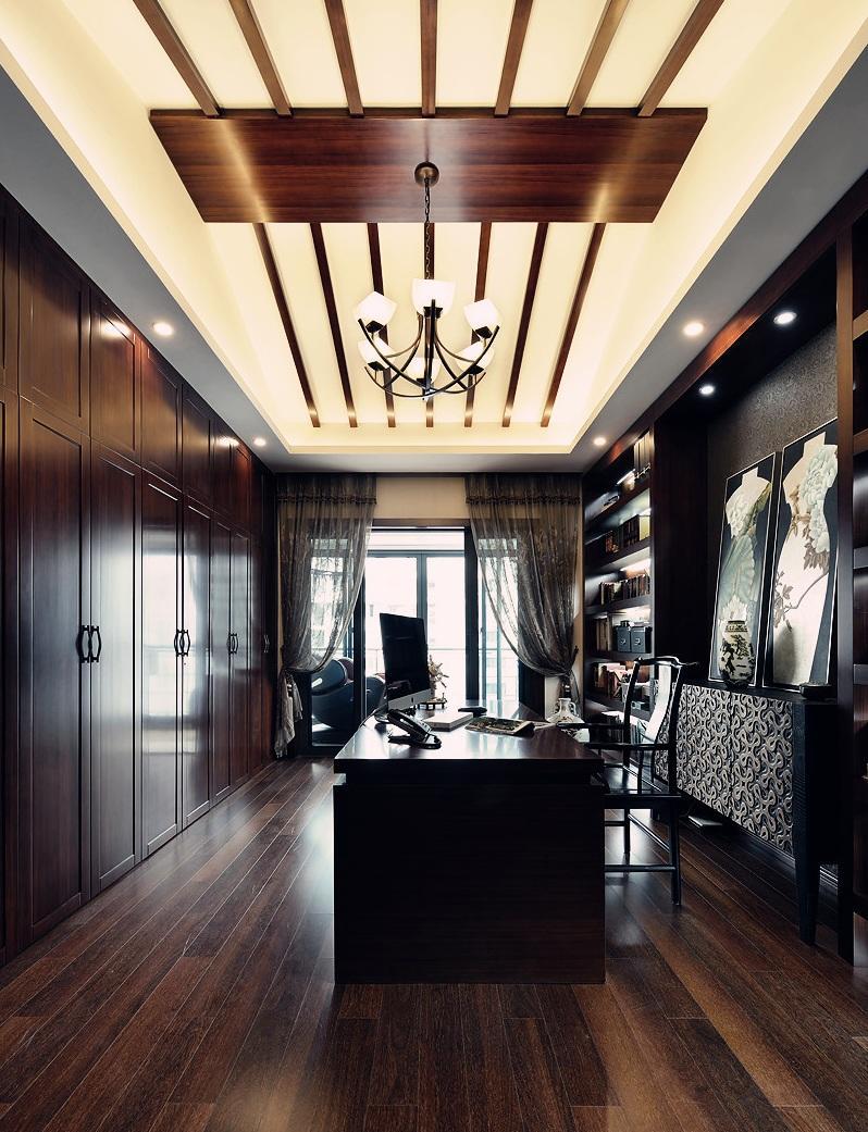 奢华简约新中式设计书房图片大全