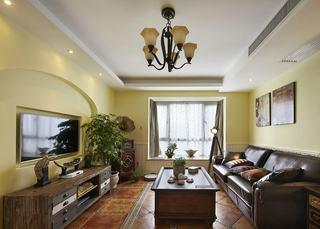 温馨复古美式装修设计客厅效果图