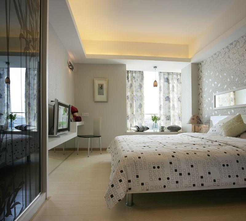 时尚简约现代风卧室吊顶设计图片