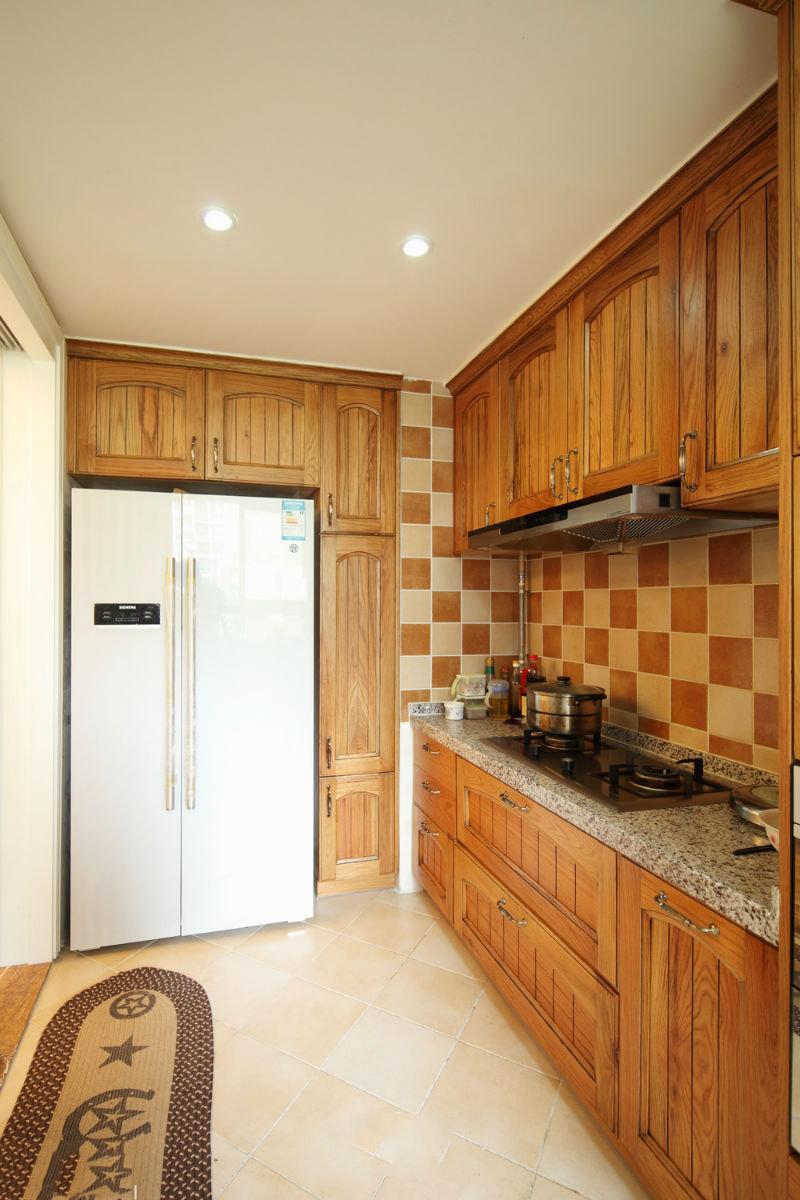 復古美式家居廚房實木櫥柜大全