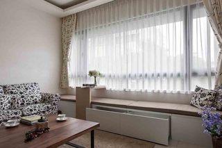 田园装修风格客厅飘窗设计图片