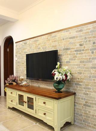 小清新文艺范地中海家居电视背景墙设计