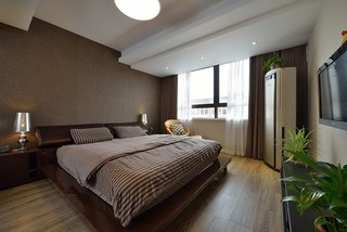 打造咖啡色宜家卧室装修效果图