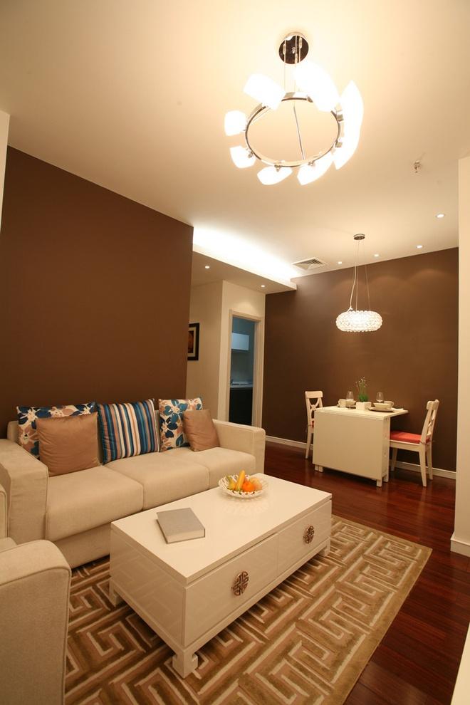 时尚现代简中式风格客厅桌装饰图