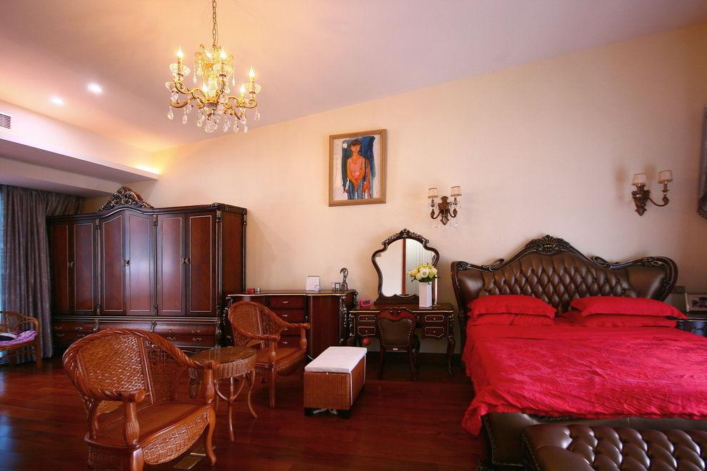古典欧式风格主卧家具搭配装潢图