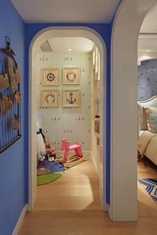 蓝色梦幻地中海儿童房隔断门欣赏大全