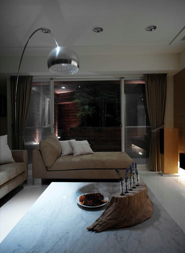 复古宜家现代风混搭客厅阳台效果图