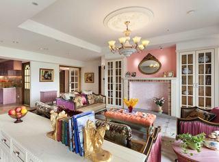 甜美精致粉色田园风客厅装饰大全