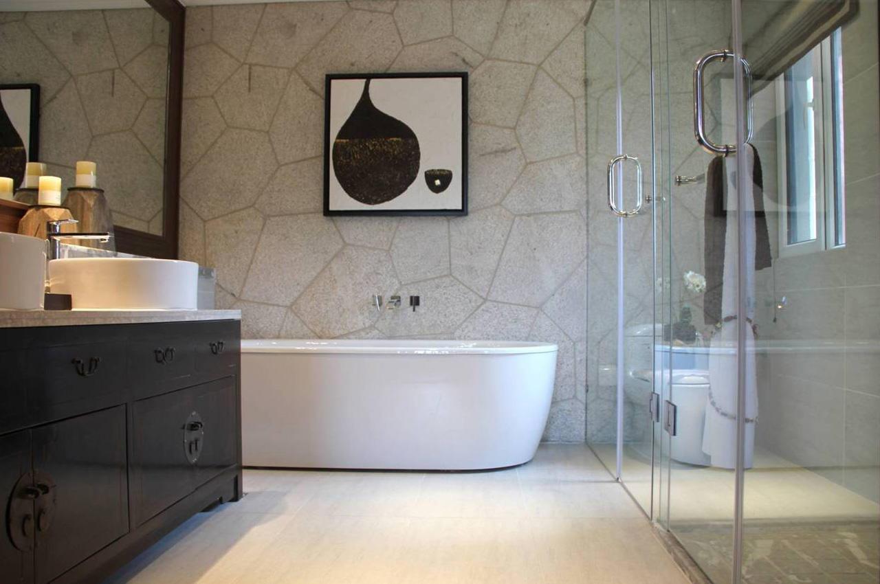 朴素中式风格整体卫生间装修图