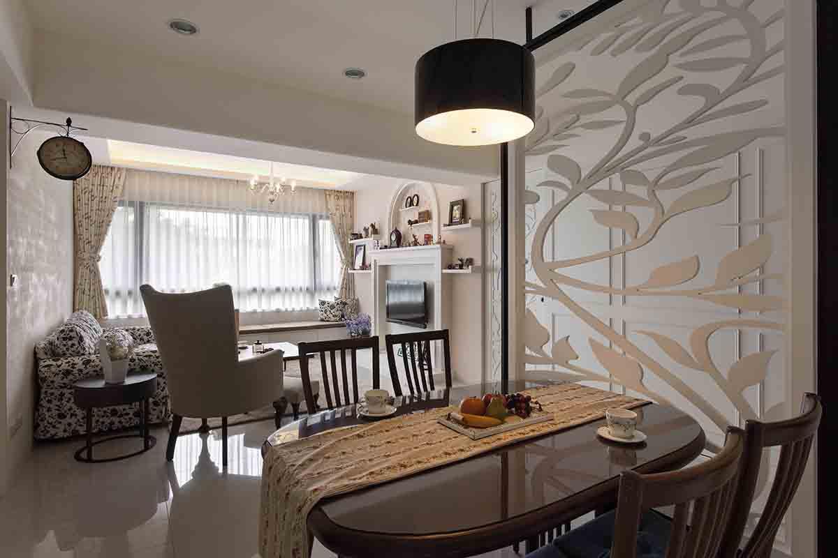 现代田园风小户型室内设计装修案例图