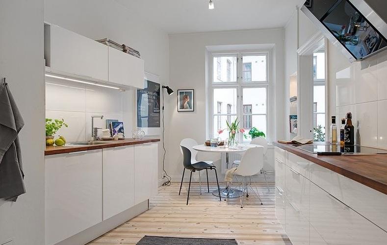 白色简约现代风格小户型室内装饰效果图