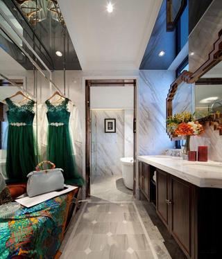 古典绿色豪华欧式风格别墅卫生间设计装修图