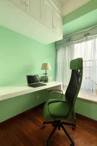 绿色简约设计书房效果图大全