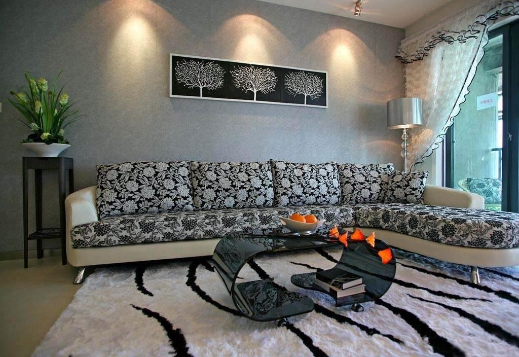 风雅别趣现代客厅沙发装饰效果图