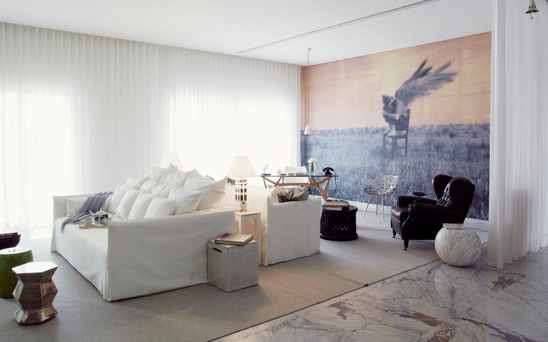 简约120平米三居客厅设计装潢图