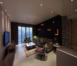 摩登时尚现代客厅装修效果图