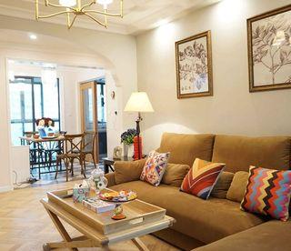 暖色调温馨简约一室两厅室内装修设计案例图