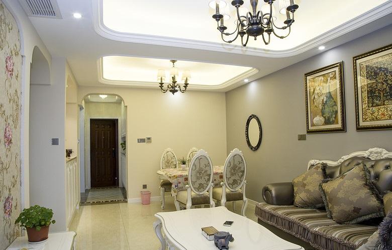 68平小户型清新唯美简欧风格二居室内装修美图