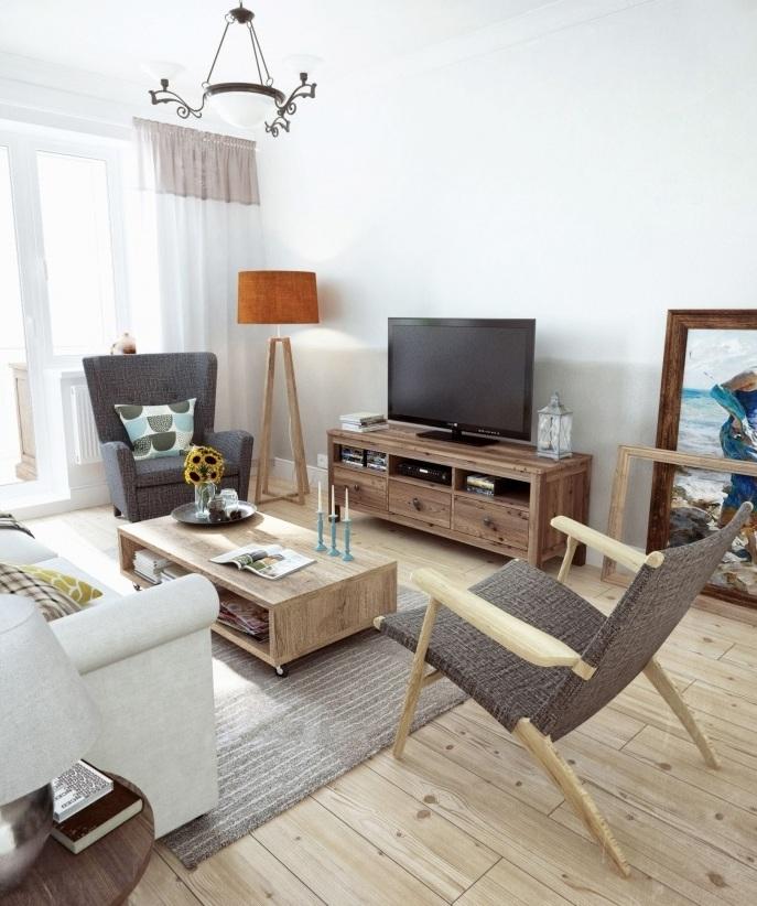 清爽乡村田园风格客厅沙发装修效果图
