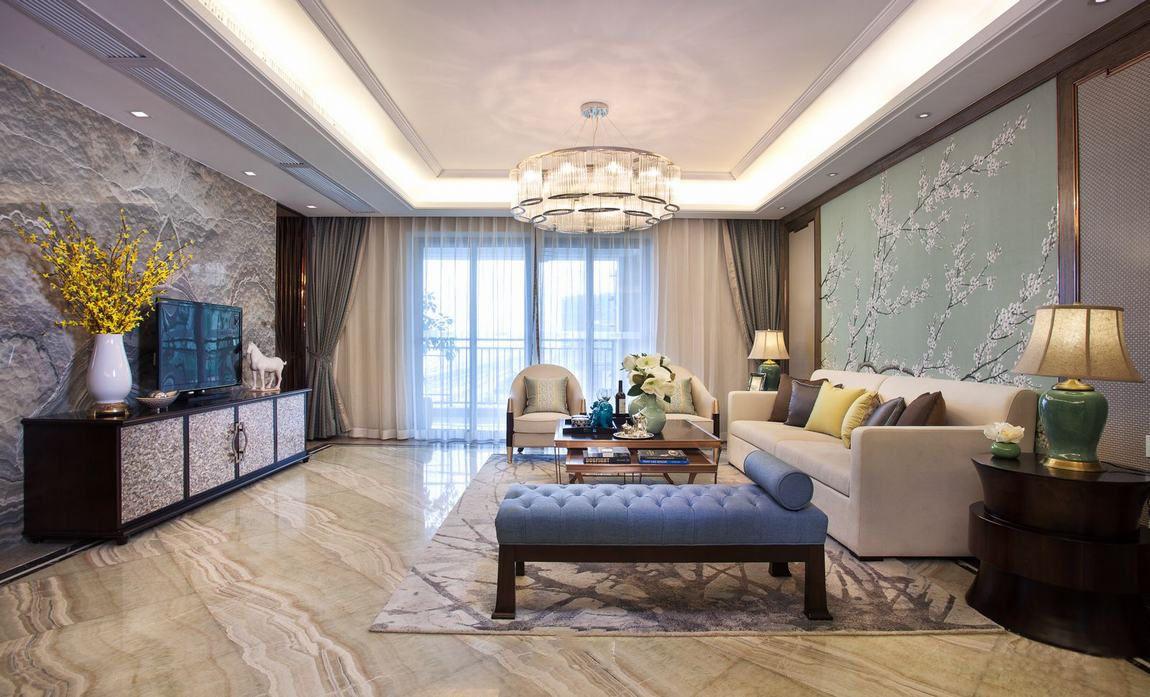 精致美式新古典客厅效果图大全