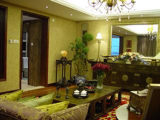 庄重青绿古典中式风格两室两厅装潢借鉴图