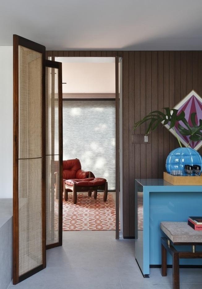 时尚简约公寓室内折叠纱门装饰欣赏图