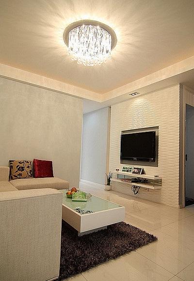 最新设计简约风格两室两厅装修图片