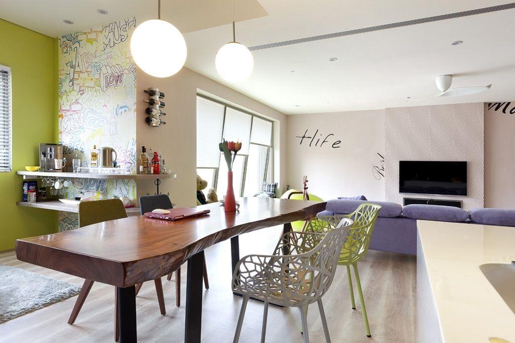 现代简约设计实木休闲吧台装修图片