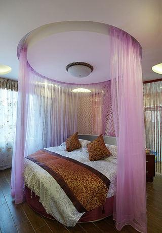 罗曼蒂克地中海风格卧室圆形床帐装饰效果图