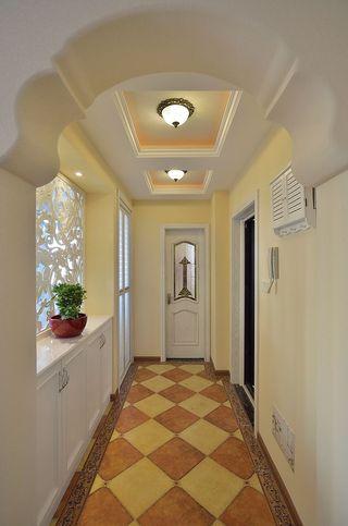 温馨复古简欧风格玄关过道装修设计图片