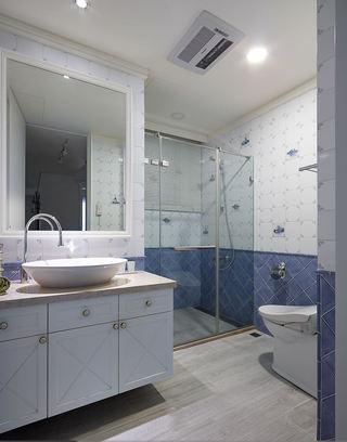 清凉美式3平米整体卫生间设计装修图
