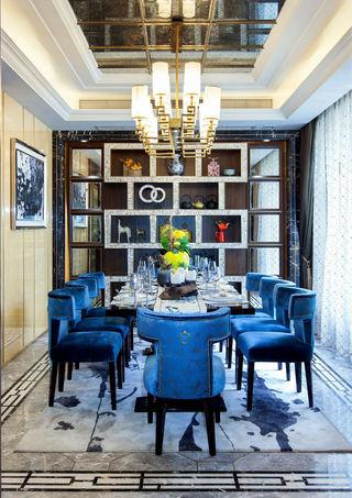 精致华丽美式新古典餐厅博古架欣赏