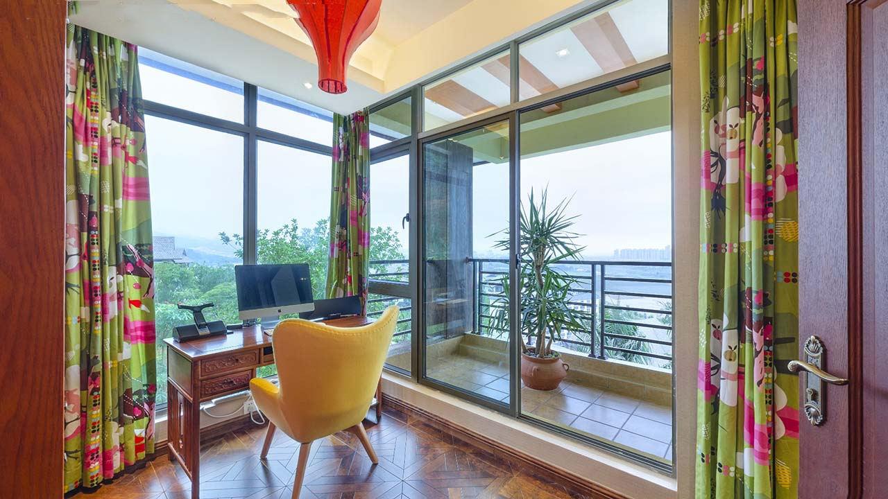 舒适东南亚豪华风格室内阳台设计装饰图