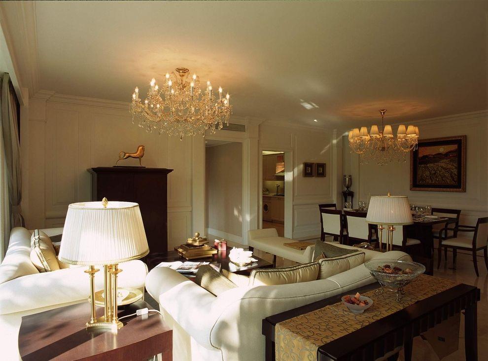 时尚复古简欧风格客厅金属水晶吊灯装饰