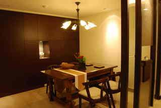 经典中式风餐厅实木柜子效果图