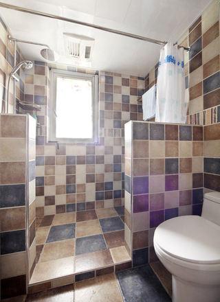 复古美式风格卫生间马赛克瓷砖效果图