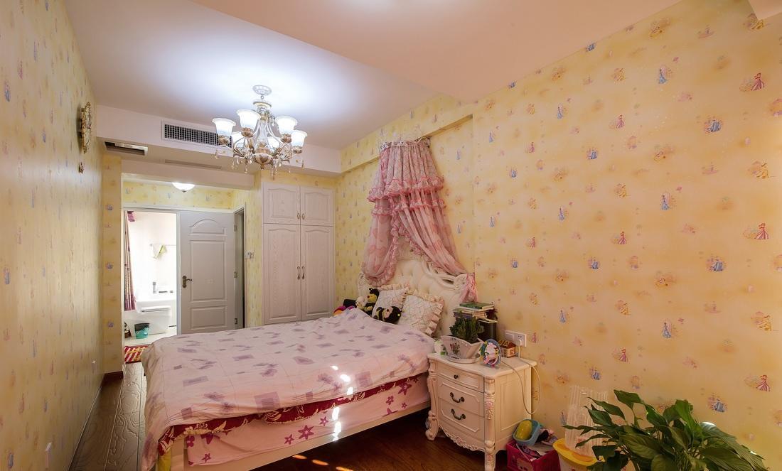 粉色欧式儿童房装饰效果图欣赏