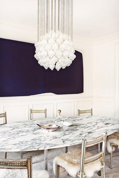 浪漫精致北欧风格餐厅吊灯效果图
