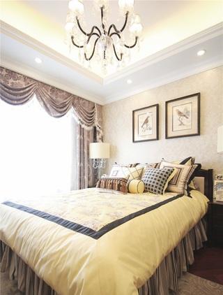 文艺复古范欧式卧室软装效果图