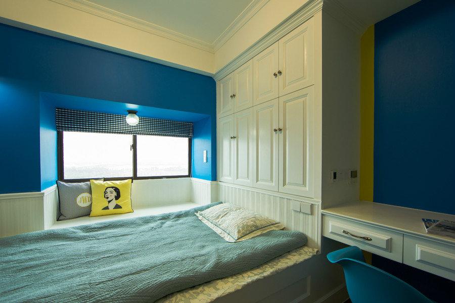 蓝色混搭儿童房设计装修效果图