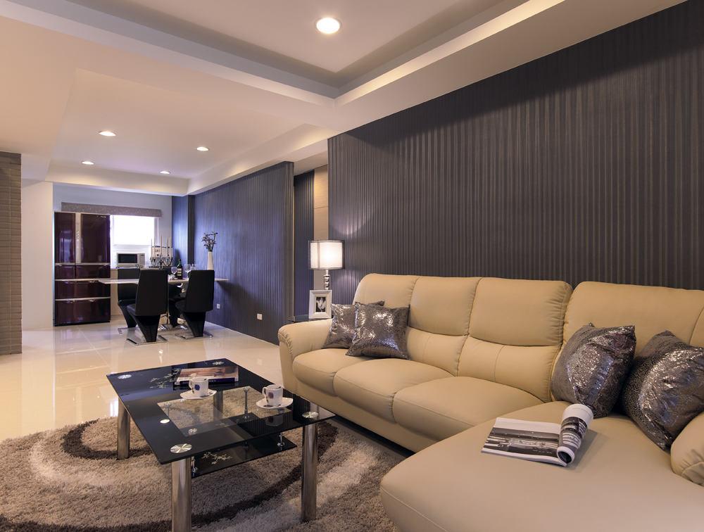 精简现代装修风格复式客厅小茶几装饰效果图