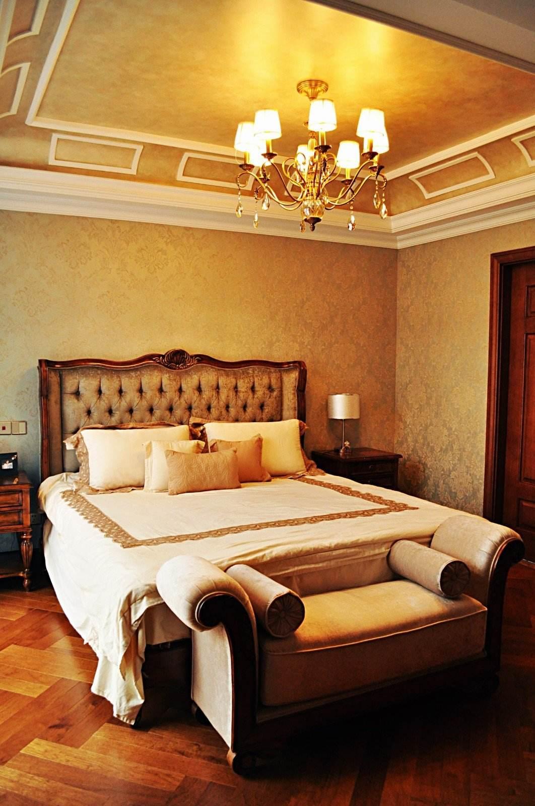 悠闲典雅美式设计风格别墅卧室装饰效果欣赏图