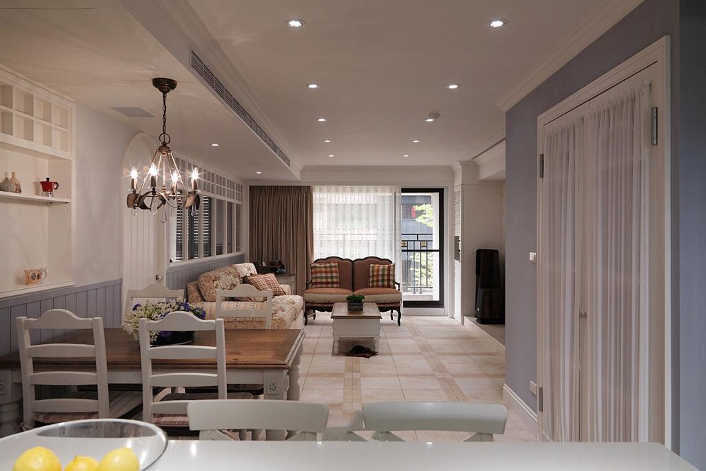 唯美清爽简欧设计二居室装饰大全
