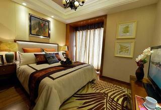 炫丽东南亚风格卧室软装饰搭配欣赏图