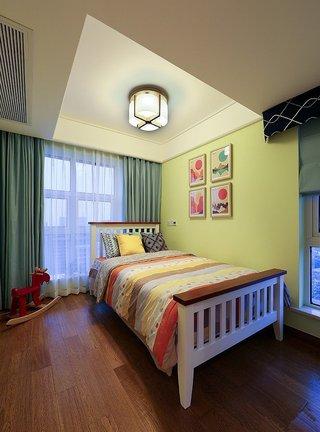 小清新简约美式儿童房黄色墙面装饰