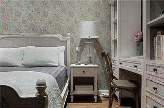 唯美欧式卧室背景墙墙纸设计案例