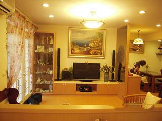 暖黄色简约宜家风小户型客厅装饰效果图
