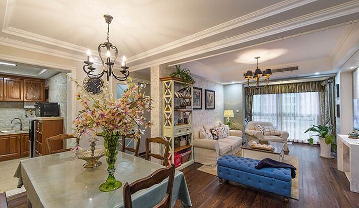 高雅田园简欧设计风格二室二厅装修图片