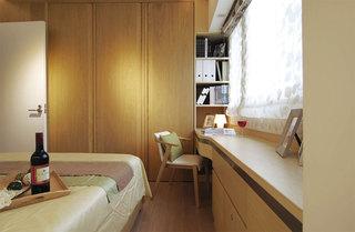 清新简约北欧卧室书桌设计装修图