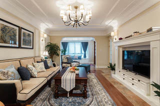 250平清新悠閑美式風格別墅設計裝修效果圖